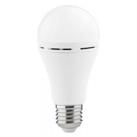 POWERTECH LED λάμπα με επαναφορτιζόμενη μπαταρία E27-017, 9W, 6500K, E27 E27-017