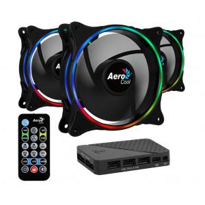 AEROCOOL Kit LED ανεμιστήρων ECLIPSE-12-PRO, 120mm, ARGB ECLIPSE-12-PRO