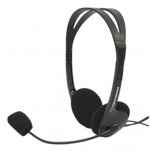 ESPERANZA Headphones με μικρόφωνο Scherzo EH102, 2x 3.5mm, 2.5m, μαύρα EH102