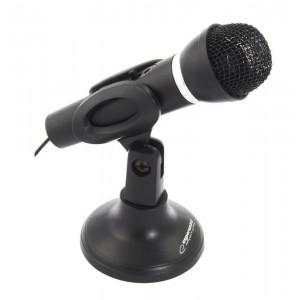 ESPERANZA Μικρόφωνο Sing EH180 με βάση & διακόπτη ON/OFF, 3.5mm, μαύρο EH180