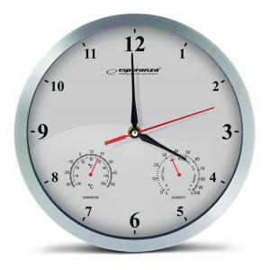 ESPERANZA Ρολόι τοίχου Washington EHC008W, 30cm, λευκό EHC008W