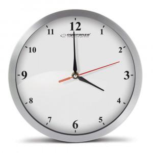 ESPERANZA Ρολόι τοίχου Detroit EHC009W, 30cm, ασημί EHC009W