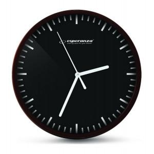 ESPERANZA ρολόι τοίχου Budapest EHC010K, μαύρο EHC010K