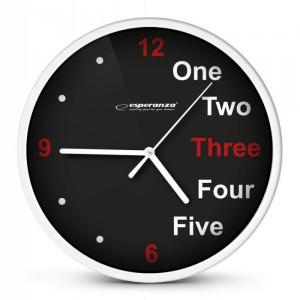 ESPERANZA ρολόι τοίχου Prague EHC014W, λευκό EHC014W