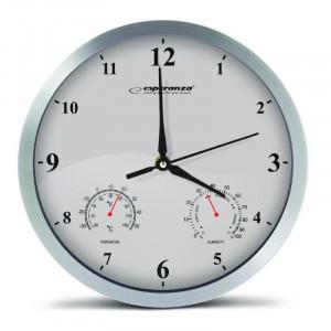 ESPERANZA ρολόι τοίχου Lyon EHC016W, λευκό EHC016W