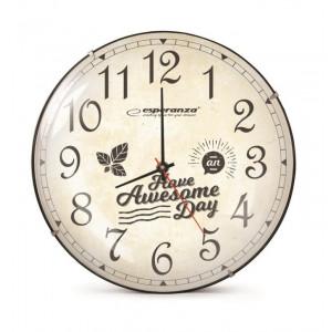ESPERANZA ρολόι τοίχου Lausanne EHC018L, λευκό EHC018L