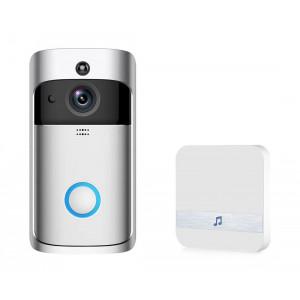 EKEN Δικτυακό κουδούνι πόρτας EKN-V5-SL, WiFi, Full HD Κάμερα, ασημί EKN-V5-SL