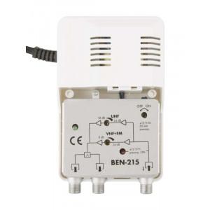 BENSAT εσωτερικός ευρυζωνικός ενισχυτής κεραίας TV BEN-215, DVB-T, 24dB EMS-BEN-215