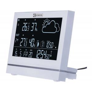 EMOS Μετεωρολογικός σταθμός E5005, υγρόμετρο, ημερολόγιο, ρολόι EMS-E5005