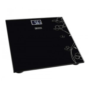 EMOS Ζυγαριά μπάνιου EV106, LCD οθόνη, 180kg max, μαύρη EMS-EV106