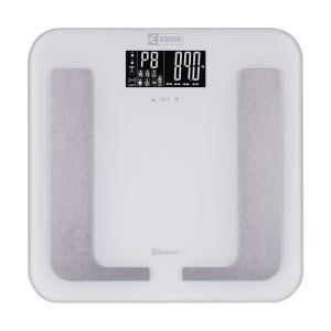 EMOS smart ζυγαριά μπάνιου EV107, με μετρήσεις λίπους, μάζας, bluetooth EMS-EV107