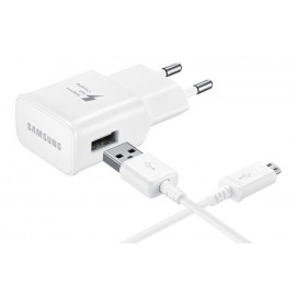 SAMSUNG φορτιστής τοίχου EP-TA20EWE, Micro USB, 15W 2A, λευκός EP-TA20EWEUGWW