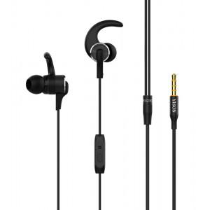 YISON Sports earphones με μικρόφωνο EX230, 10mm, 1.2m, μαύρο EX230-BK