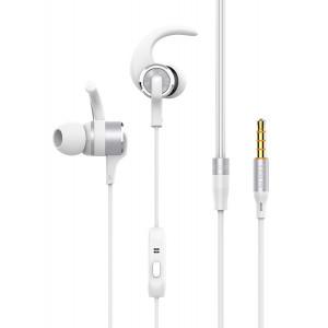 YISON Sports earphones EX230-WH με μικρόφωνο, 10mm, 1.2m, μαύρο EX230-WH