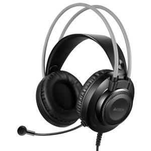 A4TECH Headset FH200U, USB, 50mm ακουστικά, DSP stereo, μαύρα FH200U