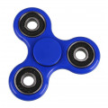 Fidget Spinner FS-009, Plastic, 3 leaves με bearings, Blue, 1 minute