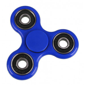 Fidget Spinner FS-009, Plastic, 3 leaves με bearings, Blue, 1 minute