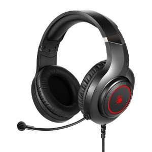 BLOODY Headset G200S, USB, 50mm ακουστικά, HiFi stereo, μαύρα G200S-BKRD