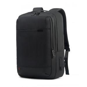 ARCTIC HUNTER τσάντα πλάτης GB00328 με θήκη laptop, USB & 3.5mm, μαύρη GB00328-BK1680D