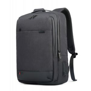 ARCTIC HUNTER τσάντα πλάτης GB00328 με θήκη laptop, USB & 3.5mm, δίχρωμη GB00328-BK2T600D