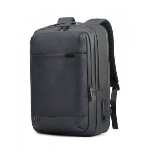 ARCTIC HUNTER τσάντα πλάτης GB00328 με θήκη laptop, USB & 3.5mm, grid GB00328-BKGRID