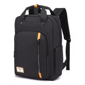 ARCTIC HUNTER τσάντα πλάτης GB00363-BK με θήκη laptop, αδιάβροχη, μαύρη GB00363-BK