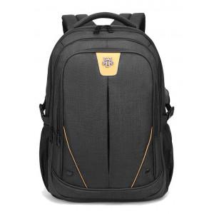 ARCTIC HUNTER τσάντα πλάτης GB00369-BK με θήκη laptop, αδιάβροχη, μαύρη GB00369-BK