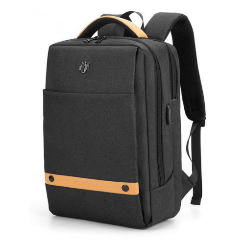 ARCTIC HUNTER τσάντα πλάτης GB00378-BK με θήκη laptop, αδιάβροχη, μαύρη GB00378-BK