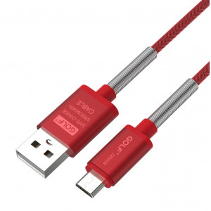 GOLF Καλωδιο Fast Charging Sync USB σε Micro, Braided, 1m, Red GC-40M-RD