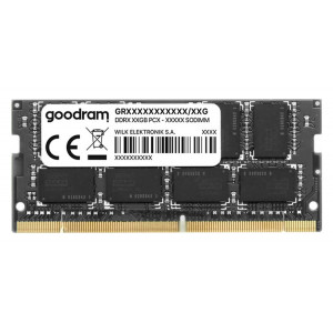 GOODRAM Μνήμη DDR3L SODimm GR1333S3V64L9-4G, 4GB, 1333MHz PC3-10600, CL9 GR1333S3V64L9-4G