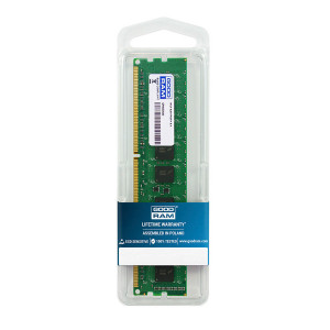 GOODRAM Μνήμη DDR3 UDimm, 4GB, 1600MHz, PC3-12800, CL11 GR1600D364L11S-4G