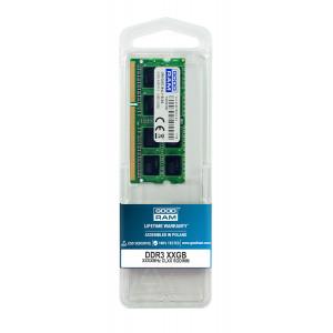 GOODRAM Μνήμη DDR3 SODimm GR1600S364L11-8G, 8GB, 1600MHz PC3-12800, CL11 GR1600S364L11-8G