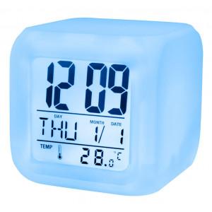 SETTY Ξυπνητηρι Κυβος, LED, White GSM013586