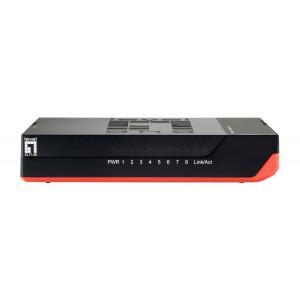 LEVELONE GbE Switch GSW-0807, 8-port 10/100/1000Mbps, Jumbo 9K, Ver. 5.0 GSW-0807