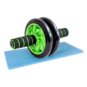 Ρόδα κυλιακών AB Wheel GYM-0001, μαύρο-πράσινο GYM-0001