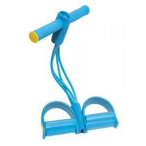 Σύστημα εκγύμνασης με λάστιχα αντίστασης GYM-0002, με λαβές, Φ7, μπλε GYM-0002