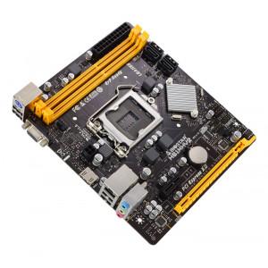 BIOSTAR Μητρική H61MHV2, 2x DDR3, s1155, 8x USB 2.0 HDMI, uATX, Ver. 7.0 H61MHV2