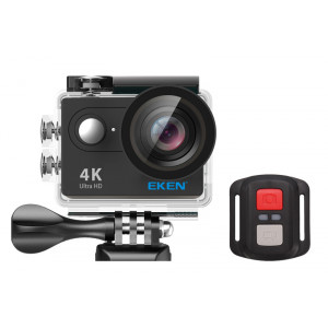 EKEN Action Cam H9R, Ultra HD 4K, 12MP, WiFi, Remote, Waterproof, Black
