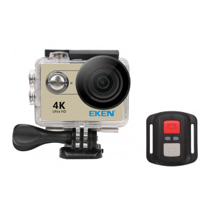 EKEN Action Cam H9R, Ultra HD 4K, 12MP, WiFi, Remote, Waterproof, Gold H9R-GD