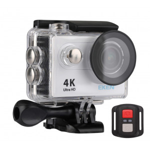 EKEN Action Cam H9R, Ultra HD 4K, 12MP, WiFi, Remote, Waterproof, Silver