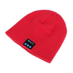 Σκουφος Classic με bluetooth ενσωματωμενα ακουστικα, Red HAT-001