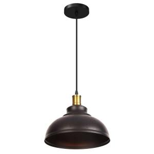 POWERTECH φωτιστικό οροφής HLL-0009, E27, μεταλλικό, vintage μαύρο HLL-0009