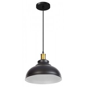 POWERTECH φωτιστικό οροφής HLL-0010, E27, μεταλλικό, λευκό-μαύρο HLL-0010