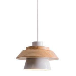 POWERTECH φωτιστικό οροφής HLL-0018, E27, ξύλινο, λευκό HLL-0018