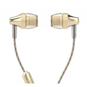 UIISII Ακουστικά Handsfree HM6 Little Gear, χρυσό HM6-GO