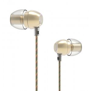 UIISII Ακουστικά Handsfree HM7, χρυσό HM7-GO
