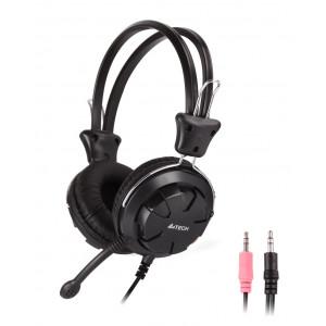 A4TECH Headset HS-28, 3.5mm, 40mm ακουστικά, stereo, μαύρα HS-28-1