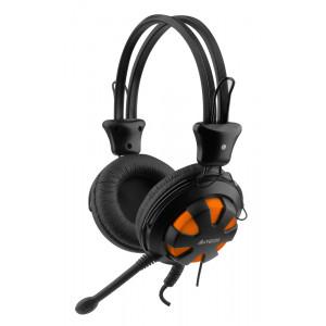 A4TECH Headset HS-28, 3.5mm, 40mm ακουστικά, πορτοκαλί HS-28-3