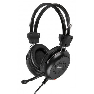 A4TECH Headset HS-30, 3.5mm, 40mm ακουστικά, μαύρα HS-30