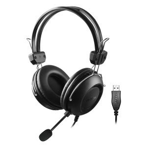 A4TECH Headset HU-35, USB, 40mm ακουστικά, 102 dB, μαύρα HU-35